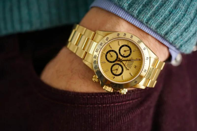 Phillips auction angelo parilla gold rolex daytona f1 2019 formula one racing may april ayrton senna info details price cost pricing geneva watch nine 9 hotel la reserve paris france
