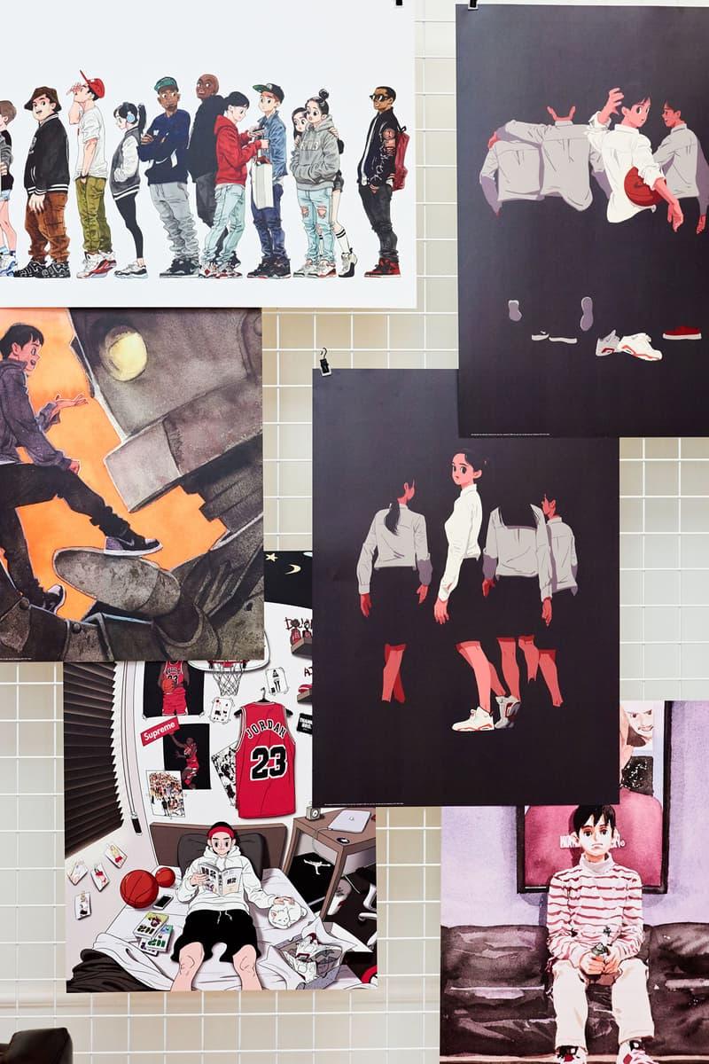 Kim Jungyoun & Rudy Sneaker Art Seoul Exhibition Off-White Jordan Comics Illustration