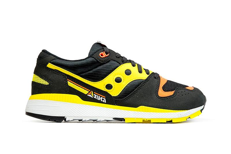 6004ab80fb Saucony Goes Archival With the Azura OG in Black Yellow vintage retro  sneakers shoes