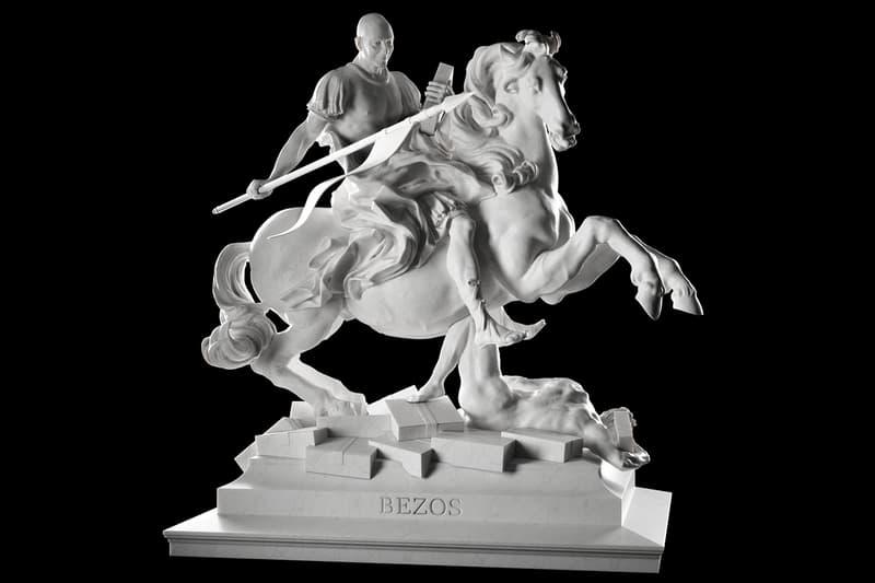 Sebastian Errazuriz Reimagines Mark Zuckerberg Jeff Bezos and Elon Musk as Greek Gods and Roman Emperors Edward Snowden Steve Jobs technology mythology