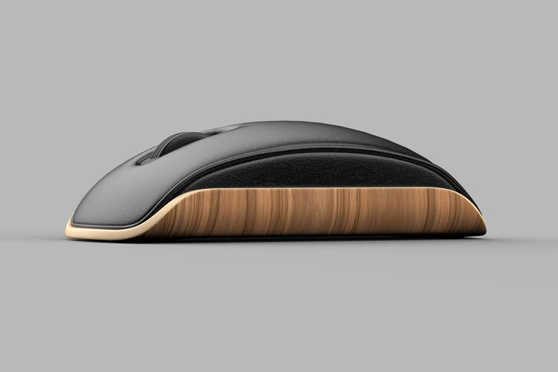 Shane Chen Eames Inspired Lounge Mouse Reimagines the Simple Everyday Device mid century design technology wood chair