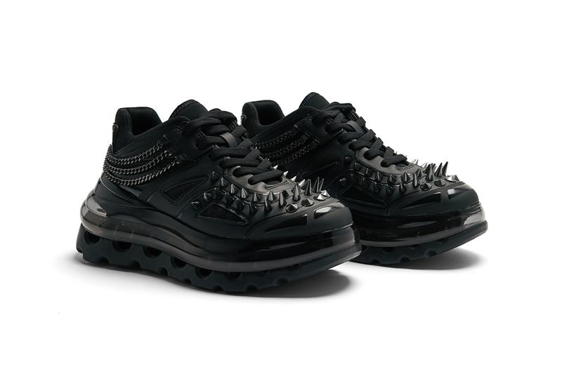 Shoes 53045 bump'air black gothic colorway release date spike chain stud metal release date info buy