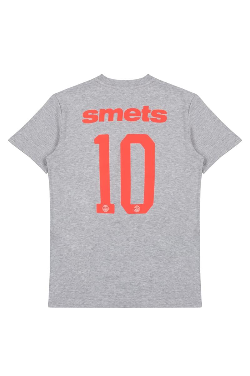 Smets Paris Saint-Germain Collaboration Release Jersey training jacket white black T shirt fifa