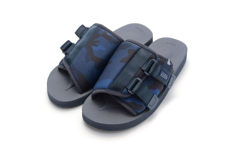 SOPHNET. x Suicoke KAW-VS Sandal Collaboration release date info buy price slam jam tokyo camouflage blue april 13 15 2019