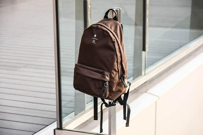 Starbucks Reserve Roastery x BEAMS Travel Goods collection collaboration accessories backpack key chain fob drop slippers graphpaper tee shirt release date info april 25 2019