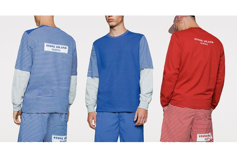 Stone Island Marina Spring/Summer 2019 Collection lookbook italian sportswear brand beach wear casual sports horizontal vertical stripes garment dyed cardigan cotton jersey ss'019 ss19