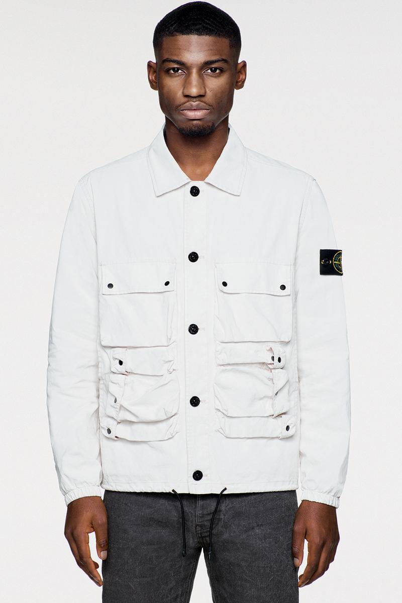 Stone Island Placcato Collection Info Information Release Details Cop Purchase Buy Spring/Summer 2019 Textile Coat Trouser Vest Bag Jumper T-shirt Shorts Polo Buy Cop Purchase  Release Information Casual Football