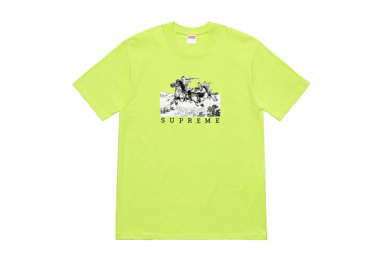 Supreme Spring 2019 Nine T Shirts Release Salvador Dali Justin Jirad Marvel Ghost Rider new York tee shirts graphics art prints keyboard cupid Meissen Cupid Figurines