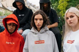 Loyal Fans Wear Supreme's Swarovski Box Logo Collection on the Streets
