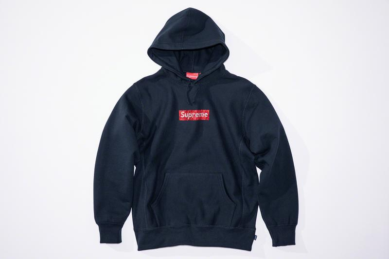 Supreme 25th Anniversary Swarovski Box Logo Info skate New York BOGO james jebbia crystals local sports fashion streetwear