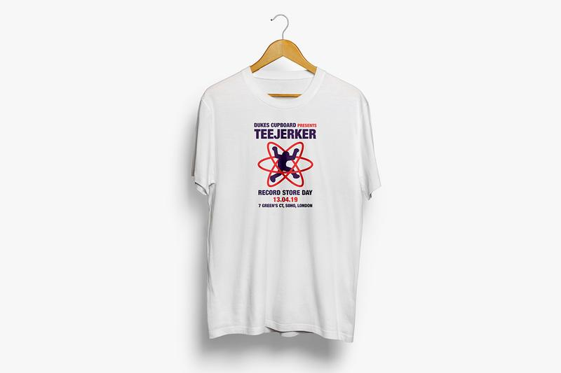 Teejerker Dukes Cupboard Pop-up Shop Record Store Day 2019 100 Original Band Tees T-shirts 80s 90s Information What to do in London this weekend Collaborative Drop Exclusive