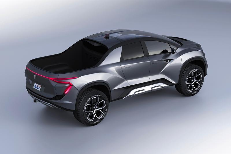 Emre Husmen Tesla Pickup Truck Concept electric vehicle EV cars automobiles