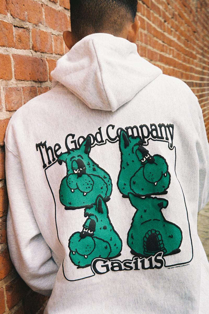 The Good Company x Gasius Russell Maurice Collaboration Capsule Collection Spring Summer 2019 SS19 Long Sleeve T-Shirt Hoodie Incense Chamber Burner Accessory Apparel Drop Release Information Evan Barco Model 97allen.com