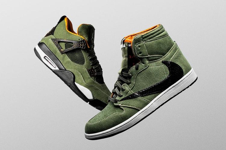 43fa2e94c6f The Shoe Surgeon Creates One-Of-One Air Jordan 1   AJ4 for Travis