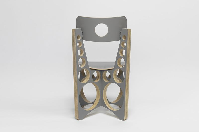 Tom Sachs 'Shop Chair' in Grey Maple & Plywood wood seat release date drop info buy painted