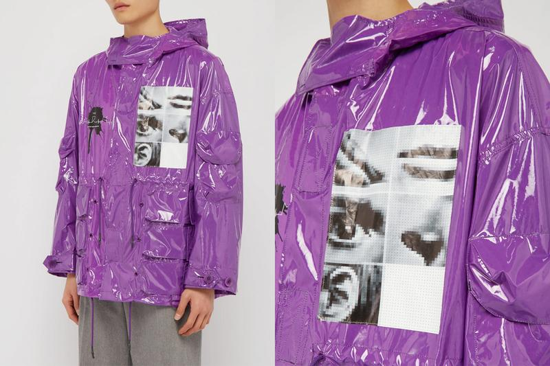 UNDERCOVER SS19 Pixelated Graphic Vinyl Parka release info drop date pricing purple jun takashi matchesfashion.com pockets cargo technical techwear military