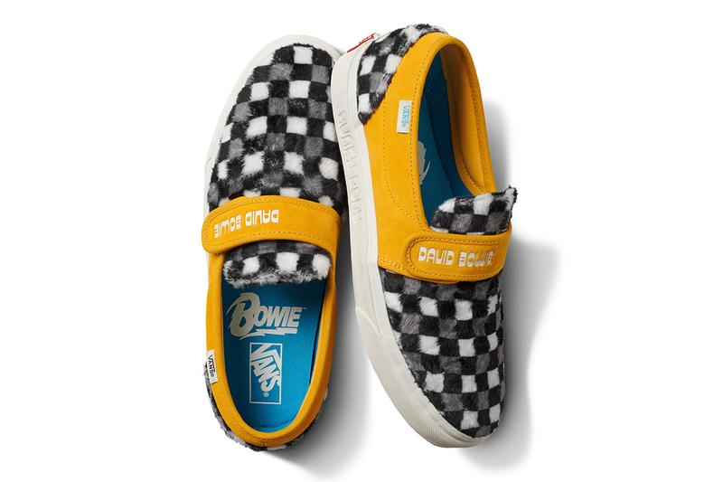"""Vans David Bowie Capsule Collection Spring Summer 2019 SS19 Drop Release Date Information Clothing T-Shirts Sneakers Footwear Hats Old Skool SK8-Hi Slip On Ziggy Stardust Aladdin Sane Classic Era Space Oddity """"the man who fell to earth"""""""