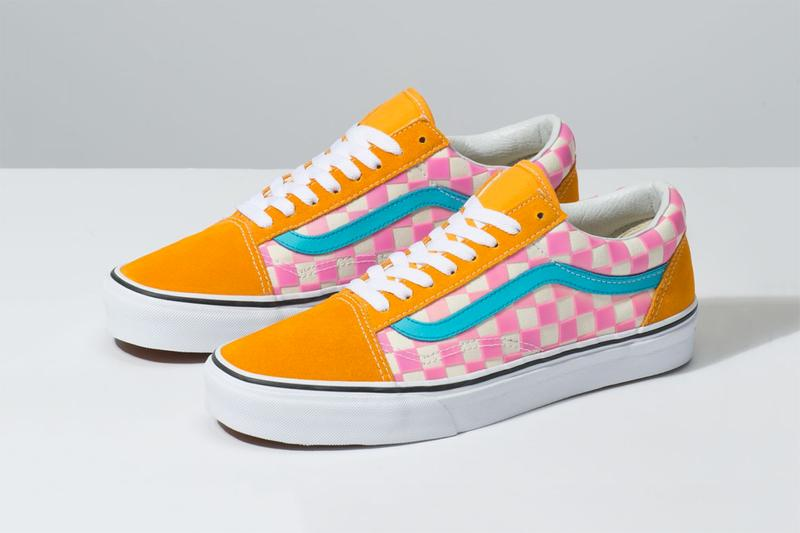 Vans Thermochrome Color changing shifting temperature heat sensitive checkerboard slip on old skool purple pink light blue orange release details closer look buy purchase cop where to how