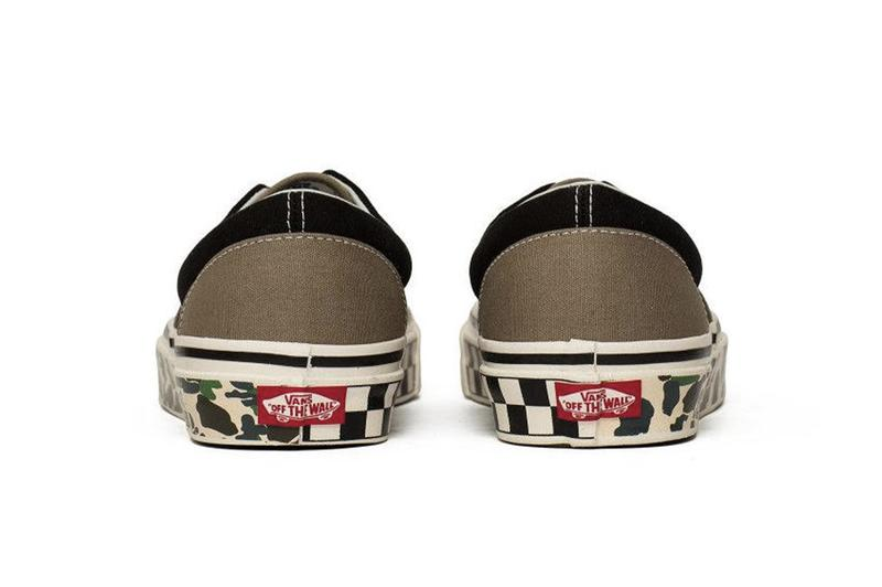 Vans UA Anaheim Factor Era 95 DX Camo Tape Camouflage Brown Black Canvas Upper Red License Plate Rear Sole Tab Spring Summer 2019 SS19 Checkerboard
