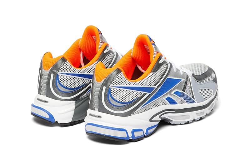 Vetements Reebok Spike Runner 200 Mesh Runner Runway Sneaker Drop Release Date Buy Now Information Demna Gvasalia White Grey Neon Orange Blue Collaboration Footwear Dad Shoe