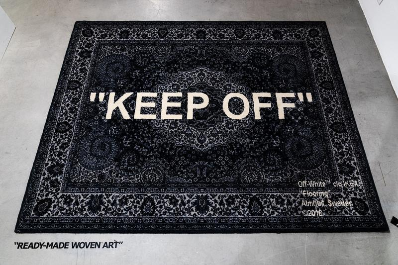 "You Can Now Order the Virgil Abloh x IKEA ""KEEP OFF"" Rug"