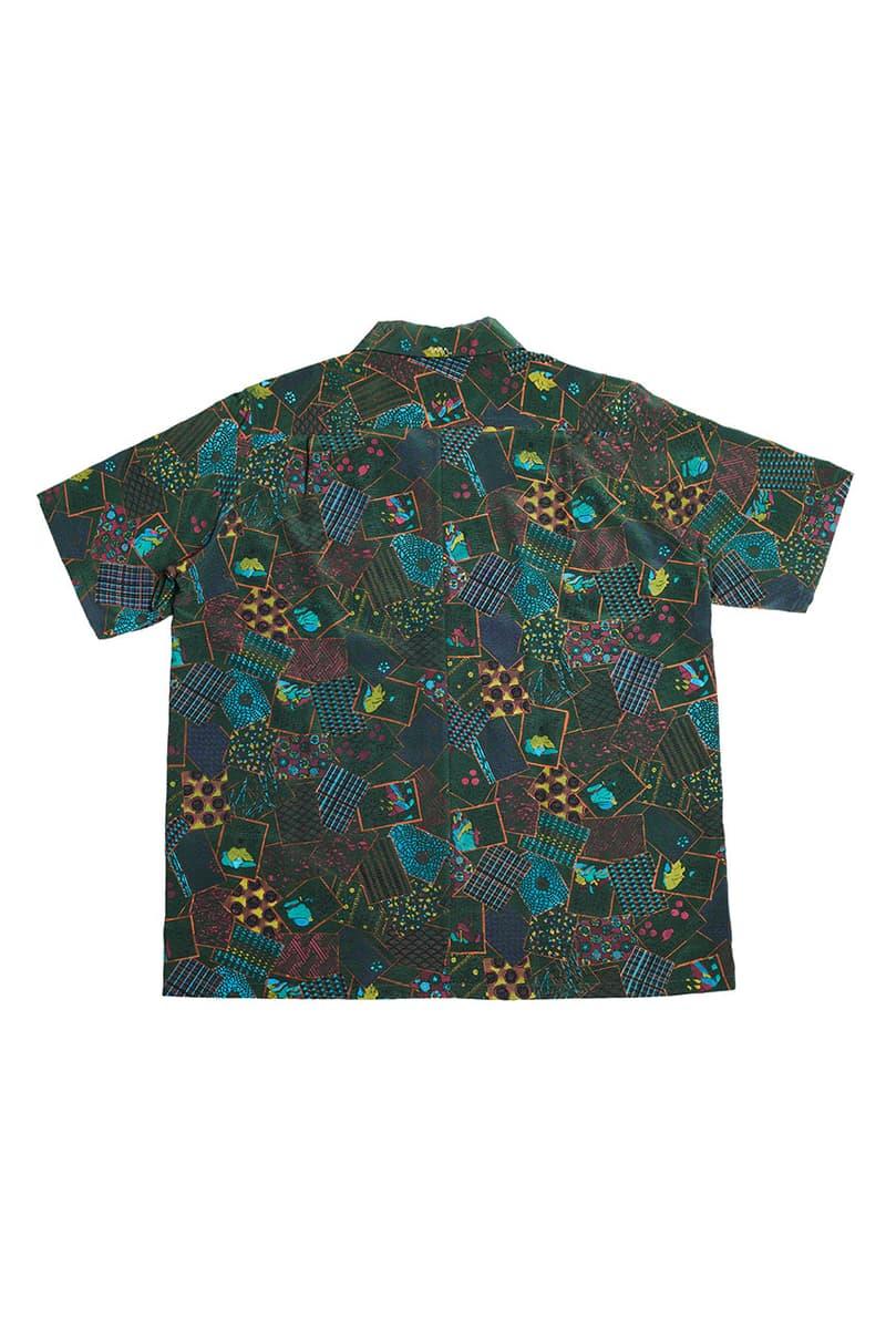 visvim spring summer 2019 ss19 free edge Hand-printed Hyakunin-Isshu shirt 0119105011025/grn japan hiroki nakamura price 15000 usd retail