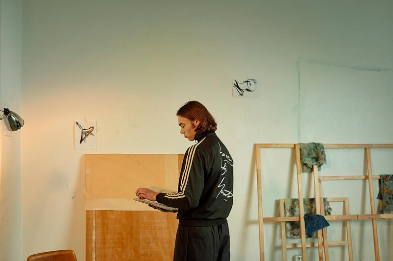 Y-3 Yohji Love Capsule collection SS19 Spring Summer 2019 hand painted artwork apparel footwear accessories t-shirts hoodies cropped track tops dresses sneakers SUPER Modernized Superstar Shell Toe 80s back pack bag tote three stripes collaboration