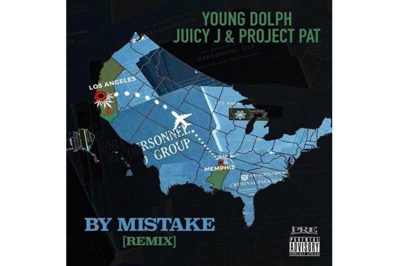 "Young Dolph ""By Mistake"" (Remix) feat. Juicy J & Project Pat stream spotify apple music memphis rap tennessee hip hop trap"