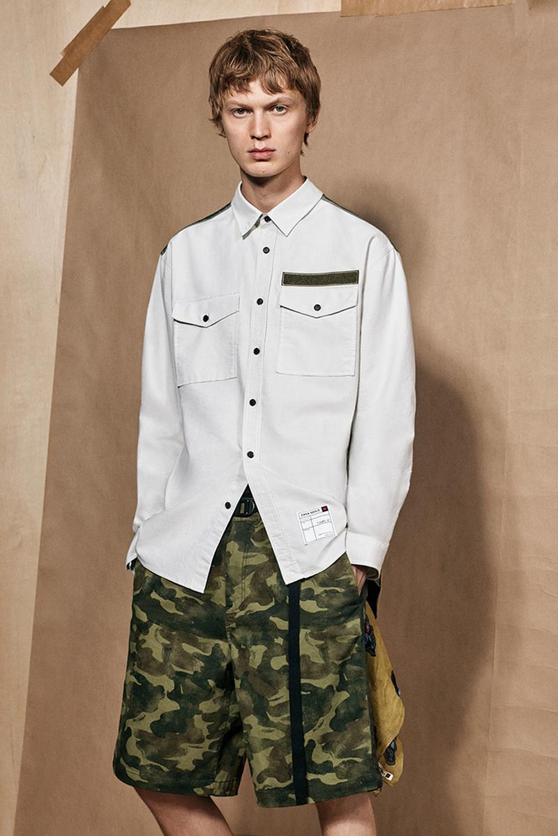 zara srpls collection 2 release spring summer 2019 lookbook mens camouflage military campaign