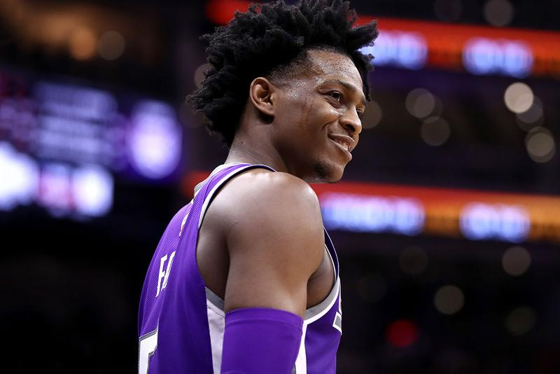 "De'Aaron Fox Teases Nike Air Max 1 ""Swipa"" Shoe sneaker colorway release date info drop buy may 31 2019 point guard sacramento kings"