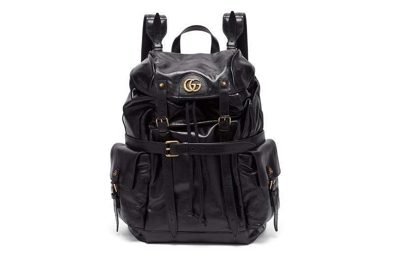 Gucci GG-plaque crinkled-leather backpack release price where to buy 2019