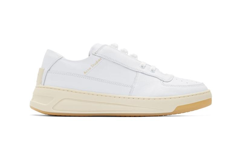 acne studios perey leathe paneled low top sneakers spring summer 2019 green white yellow black colorway release lace up