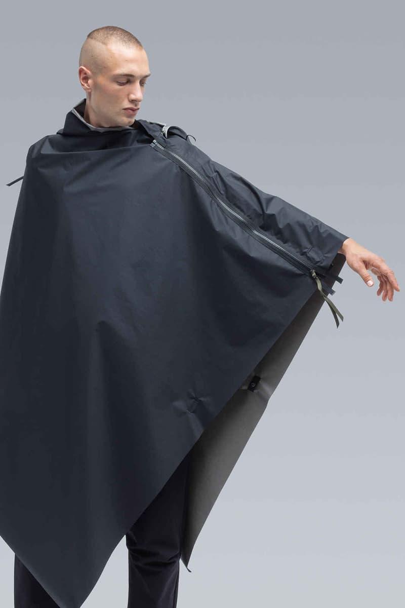 ACRONYM New Pieces Drop Collection Summer 2019 Errolson Hugh Designed Avant Guard Techwear GORE-TEX Windstopper Cape Closer Look