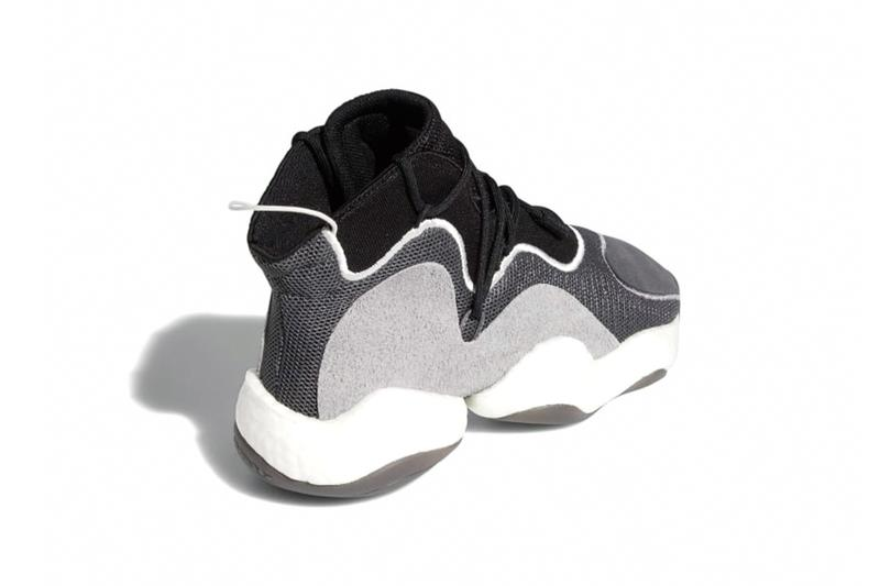 adidas Crazy BYW Core Black Grey Grey Three Cloud White Grey One Crystal White Release Info BD8013 BD8014