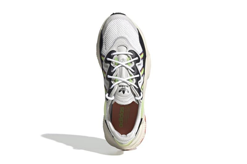 "adidas Originals LXCON Solar ""Green/Cream White""  and Ozweego ""FTWR White/Solar Green"""