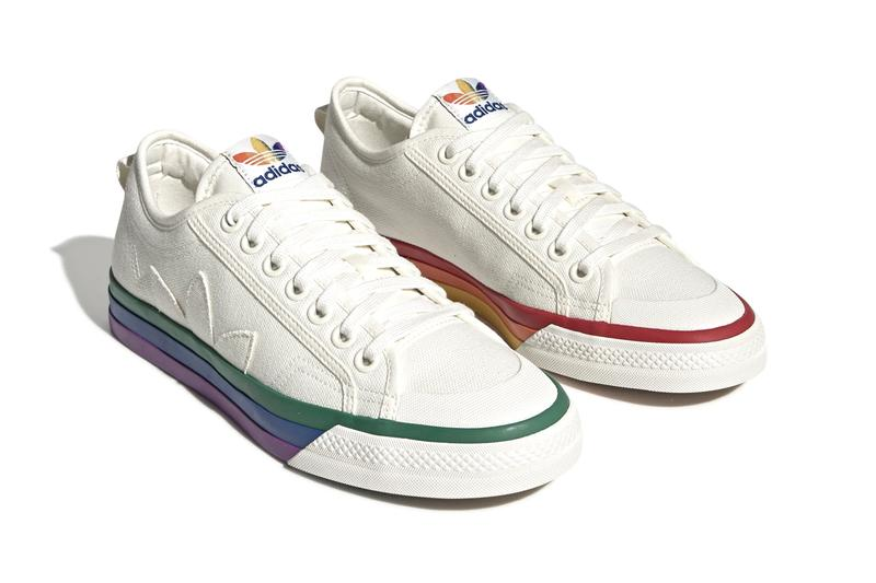 adidas Originals Nizza Pride Pack LGBTTQQIAAP Month Equality Sneaker Release Information Drop Date Cop June 1 Basketball Court Sneaker Players 1970s Retro