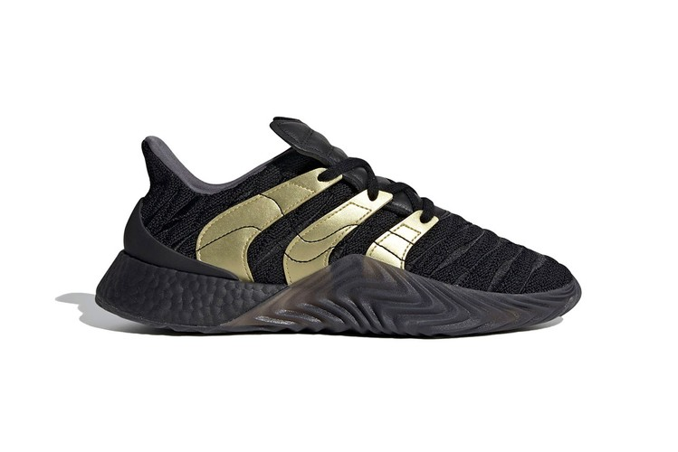 6146547d04c86 adidas Originals Revamps Sobakov BOOST With Striking Gold Accents · Footwear