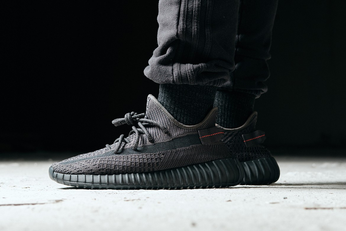82d50b25 adidas YEEZY BOOST 350 V2 All-Black On-Foot Look | HYPEBEAST