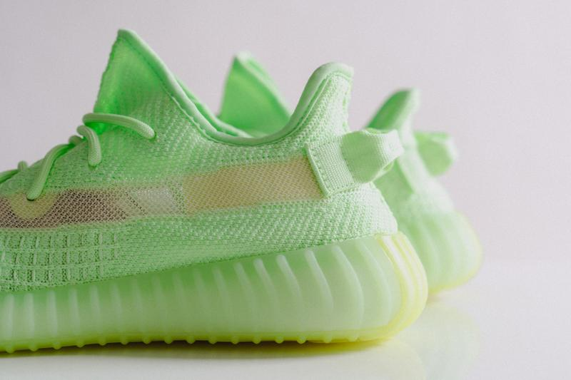 "YEEZY BOOST 350 V2 ""Glow-in-the-Dark"" Closer Look kanye west three stripes"