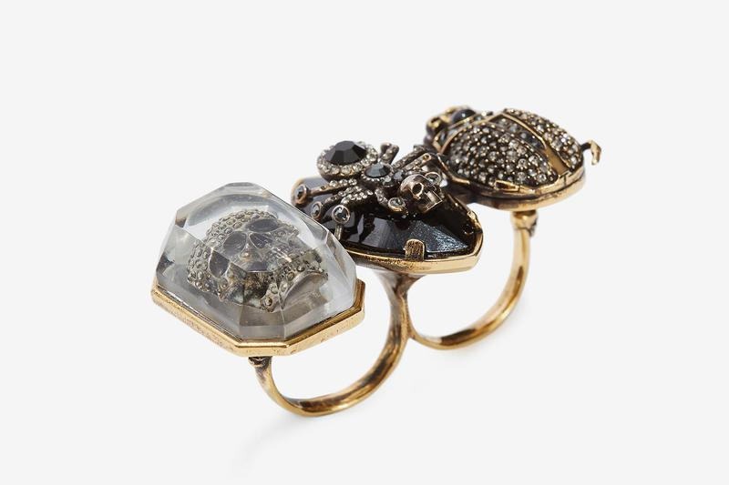 Alexander Mcqueen Jeweled Insect Double Ring release price where to buy 2019