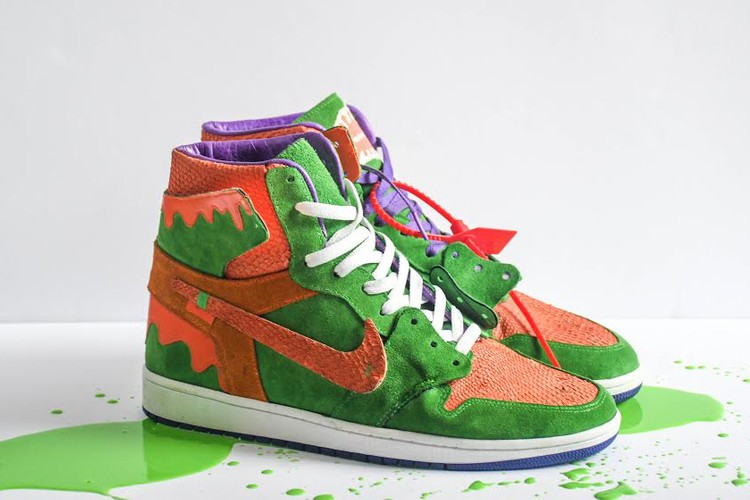 4b943a0a670 Air Jordan 1. This Nickelodeon Slime-Inspired AJ1 Is Pure Childhood  Nostalgia