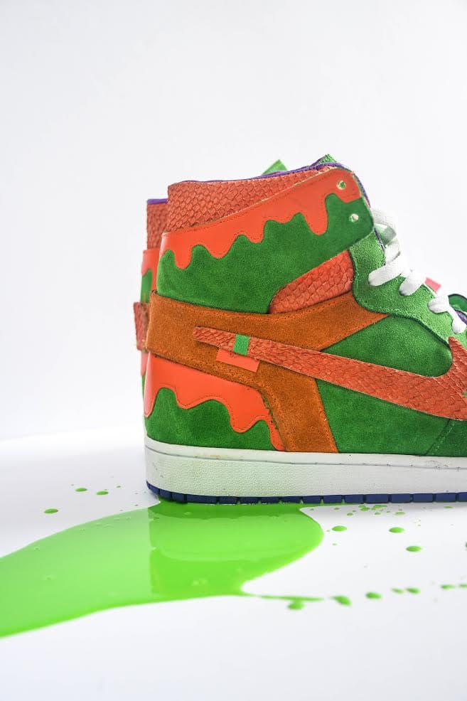 AMAC Customs Nickelodeon Slime Air Jordan 1 High