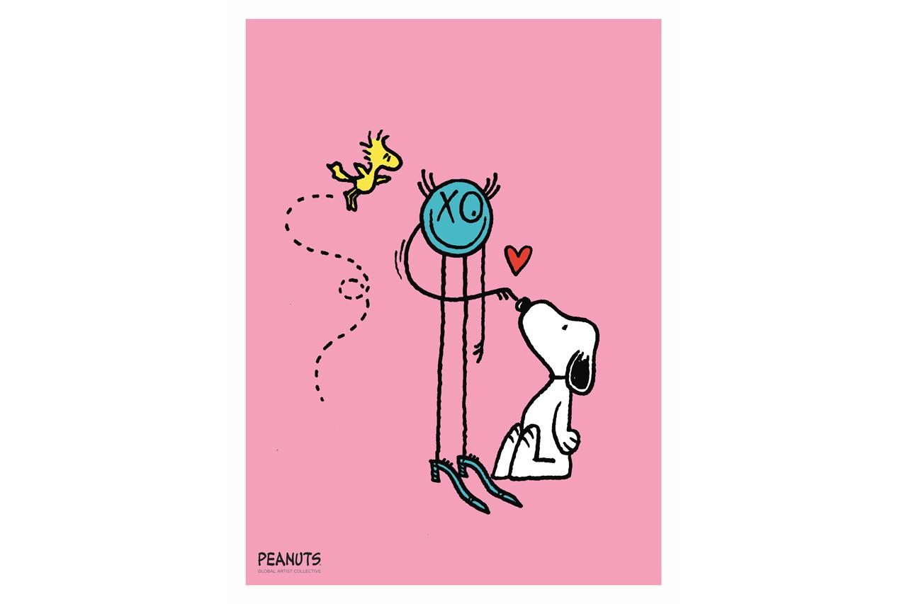 andre saraiva mr a peanuts global artist collective galeries lafayette champs elysees snoopy artworks exhibitions prints merchandise apparel collaborations