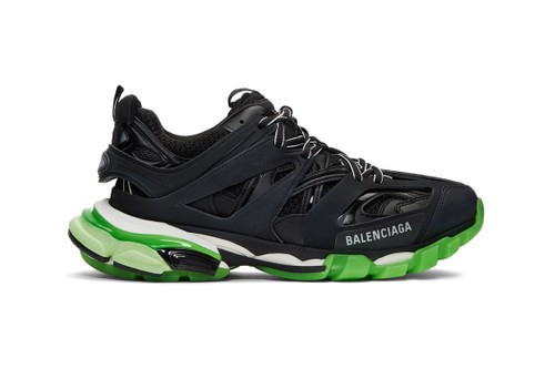 Balenciaga Drops Blacked-Out Track Sneaker With Neon Green Sole Unit