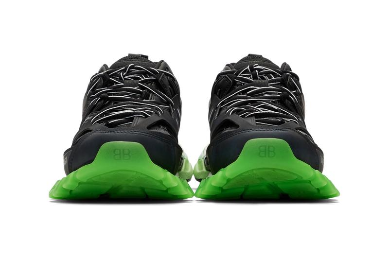 Balenciaga Track Sneaker Black Green Hiking 3M Mesh Faux Leather Rubber Technical Chunky Sole Unit Demna Gvasalia Release Information Drop Date Where to Cop Buy SSENSE
