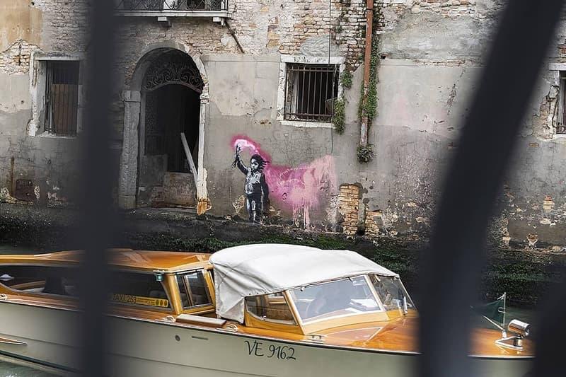 banksy migrant child mural venice biennale artworks street art graffiti