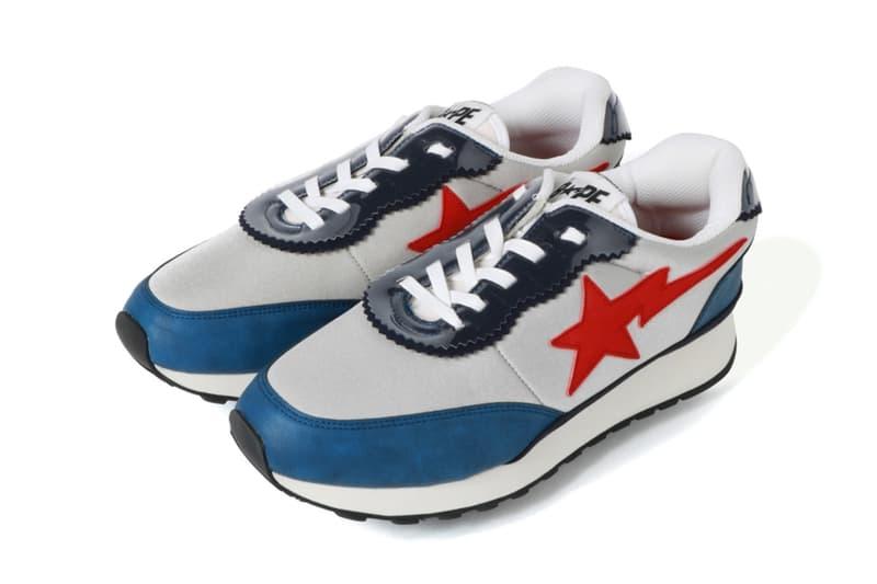 BAPE ROADSTA Express Release a bathing ape footwear jogging shoe blue red white jogging shoe runner sta motif