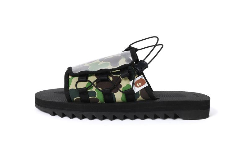 BAPE x Suicoke DAO and MOTO-2 Sandals Western Drop north america kith haven web store may 18 2019 date info release colorways black white red first camouflage ape head