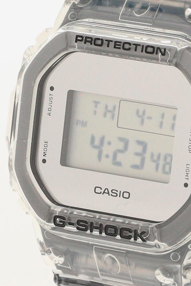 Beams x Casio G-Shock Clear Skeleton Release DW-5600SK DW-6900SK Japan Watches digital clocks time keeping lume glow retailer