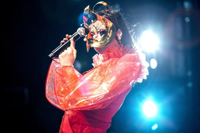 "Björk Debuts 'Utopia' Songs During New Live Show Rehearsal cornucopia new york avant-garde artist musician singer songwriter iceland Guðmundsdóttir pop alternative ""Body Memory"" and ""Future Forever"" ""Sci-Fi Pop Concert"""